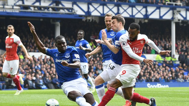 Zouma helped Everton to a third consecutive clean sheet in their 1-0 win over Arsenal