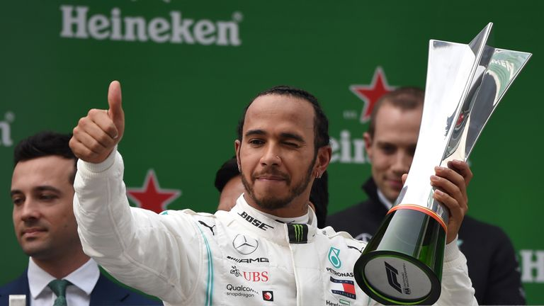 Reigning world champion Lewis Hamilton won the 2019 Chinese Grand Prix