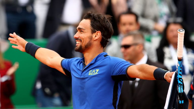 Fognini celebrates reaching his maiden Masters 1000 final