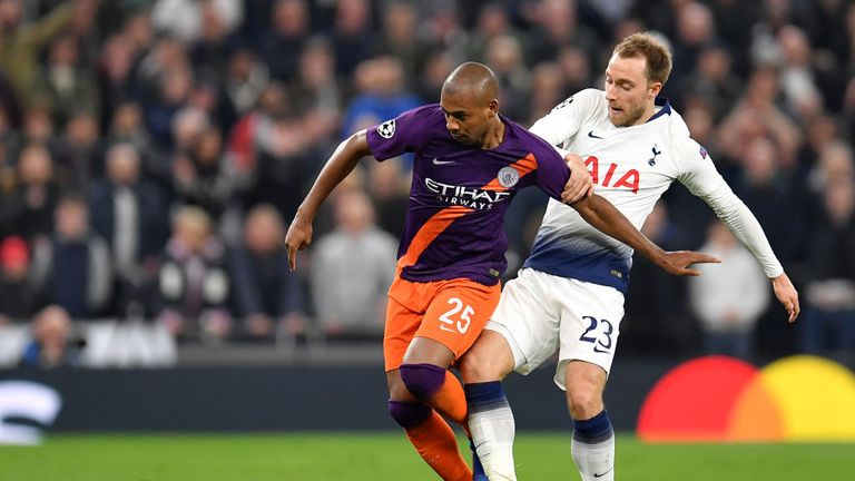 Tottenham won the first leg against Manchester City 1-0 last week