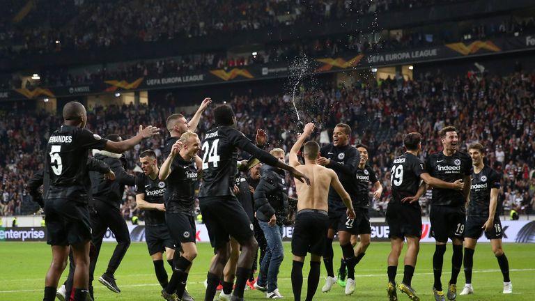 Frankfurt progress through to the Europa League semi-finals on away goals