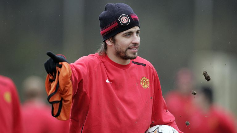 Gerard Pique made just 23 appearances for Manchester United