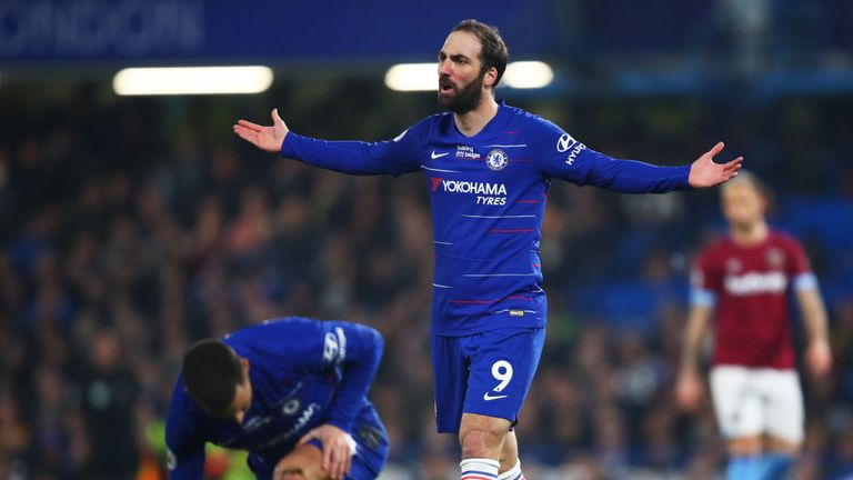 Gonzalo Higuain has endured a difficult start to life at Chelsea