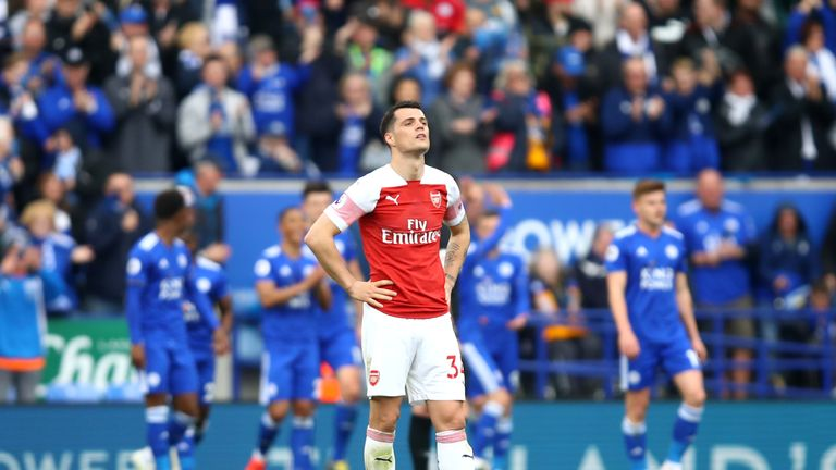 Arsenal will hope to end a run of three consecutive Premier League defeats on Sunday