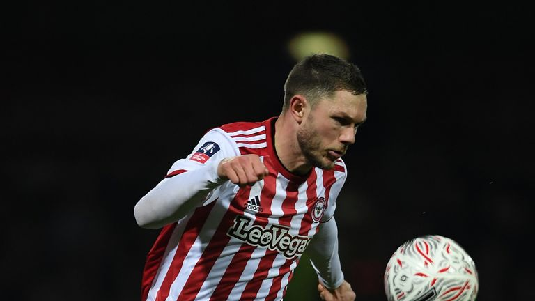Brentford's Henrik Dalsgaard is suspended for Monday evening's visit of Leeds United to Griffin Park