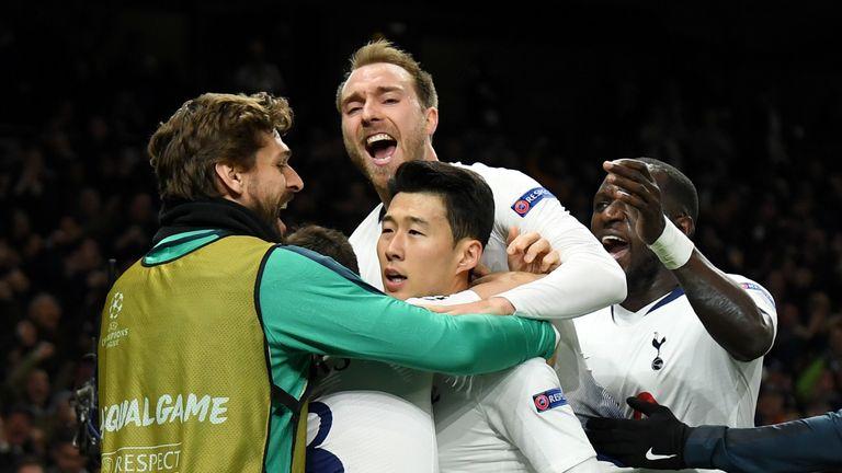Tottenham 1 0 Man City Heung Min Son Goal Gives Spurs Edge In First Leg Football News Sky Sports