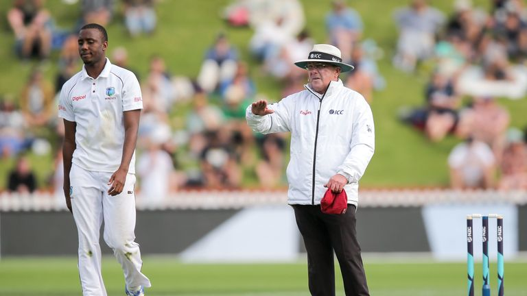 during day two of the Test match series between New Zealand Blackcaps and the West Indies at Basin Reserve on December 2, 2017 in Wellington, New Zealand.