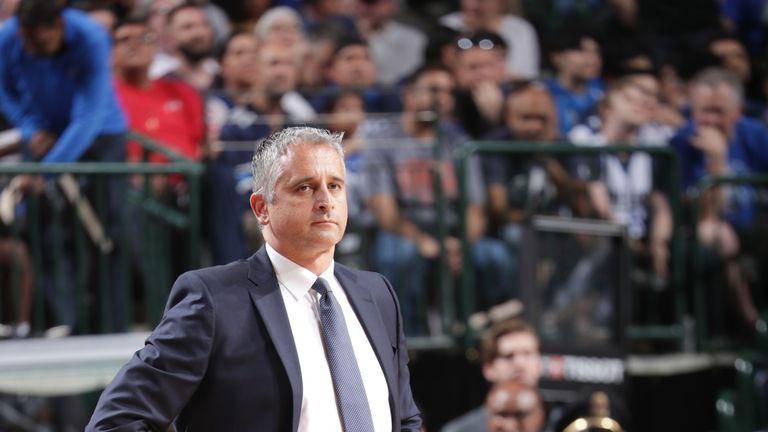 Head Coach Igor Kokoskov of the Phoenix Suns looks on against the Dallas Mavericks on April 9, 2019 at the American Airlines Center in Dallas, Texas.