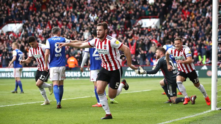 Jack O'Connell scores Sheffield United's second goal