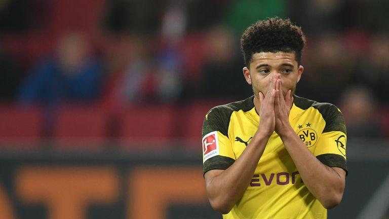 Jadon Sancho has scored nine goals for Borussia Dortmund this season