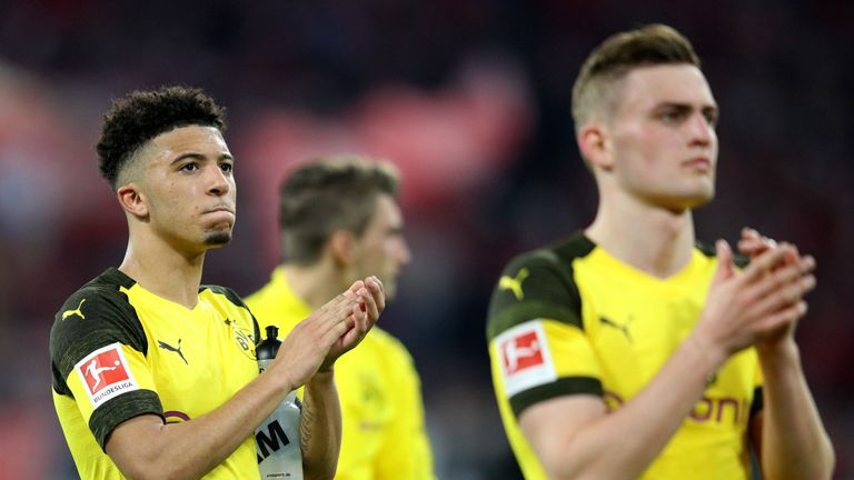 Jadon Sancho played the full 90 minutes in Munich