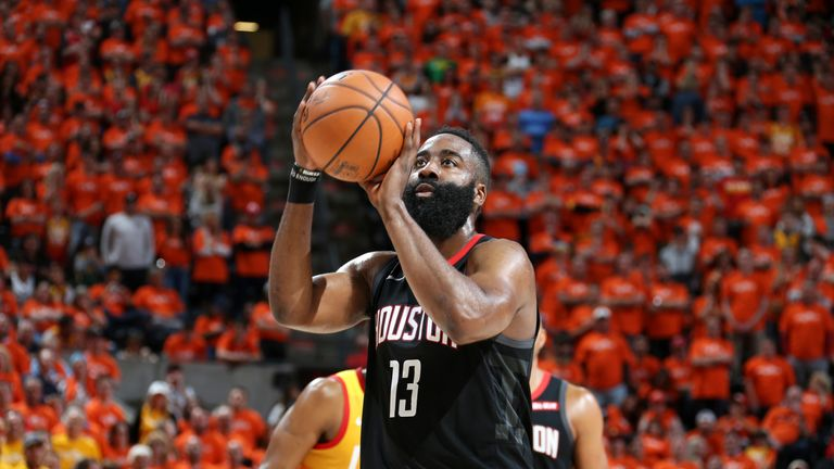 James Harden scored 14 of his 22 points from the free-throw line
