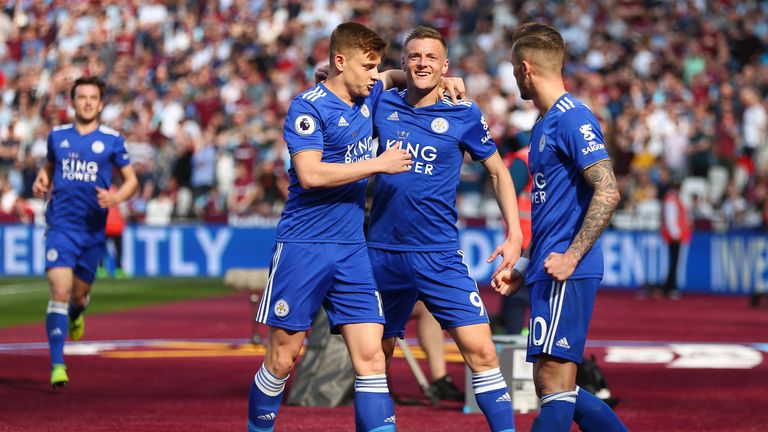Jamie Vardy scored the first equaliser for Leicester at the London Stadium