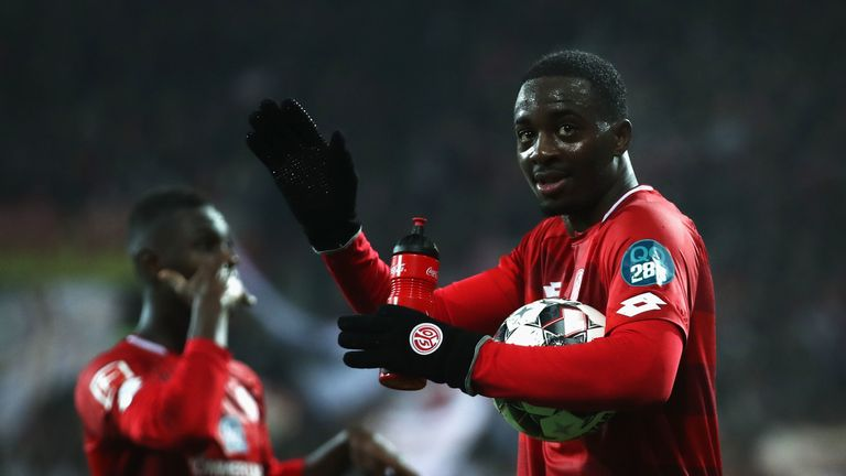 Jean-Philippe Mateta scored a hat-trick for Mainz on Frisay night