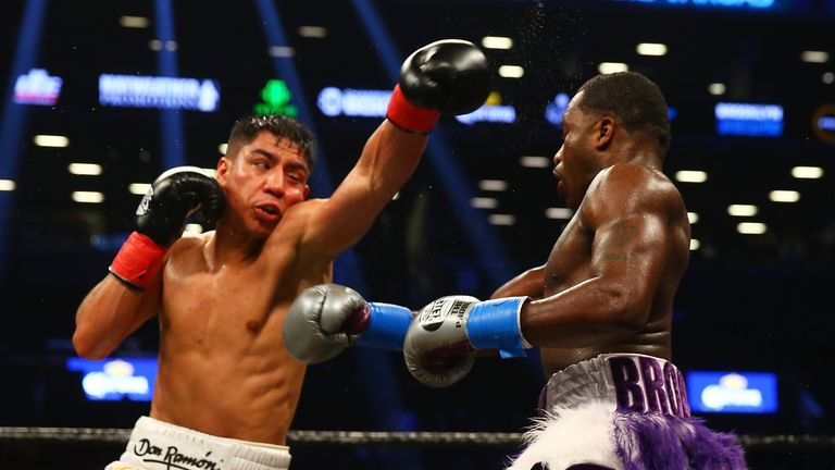 Vargas (L) and Adrien Broner fought to a draw
