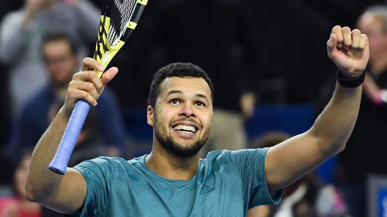 Jo-Wilfried Tsonga will take on Edmund in the next round