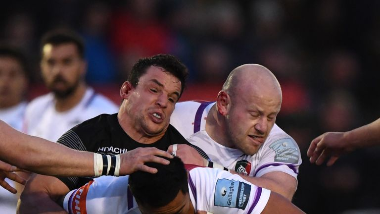 John Hardie, left, misses out for the Falcons due to a shoulder injury