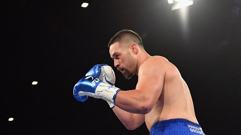 during the heavy weight bout between Joseph Parker and Alexander Flores at Horncastle Arena on December 15, 2018 in Christchurch, New Zealand.