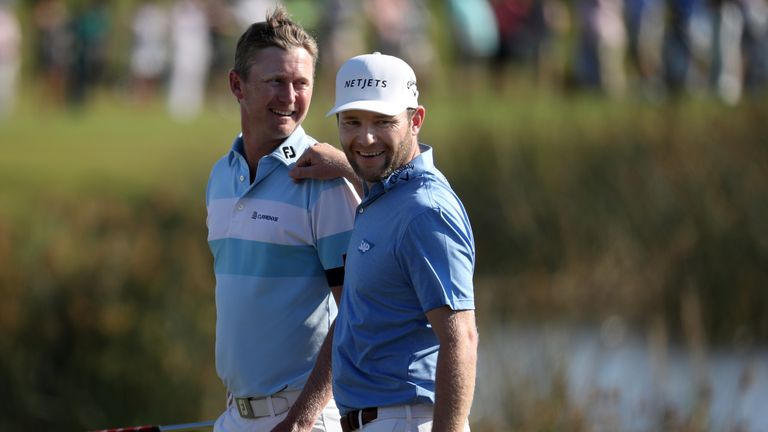 Justin Harding and Branden Grace are just one off the lead going into the final round