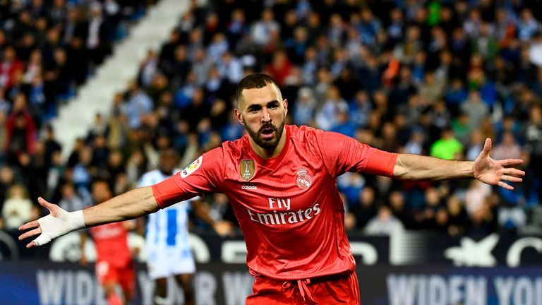 Karim Benzema scored in Real's 1-1 draw with Leganes