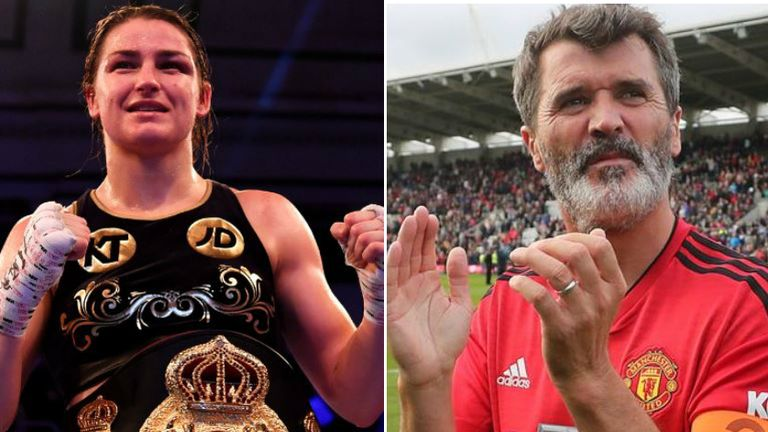 Katie Taylor is a big fan of former Manchester United and Ireland midfielder Roy Keane