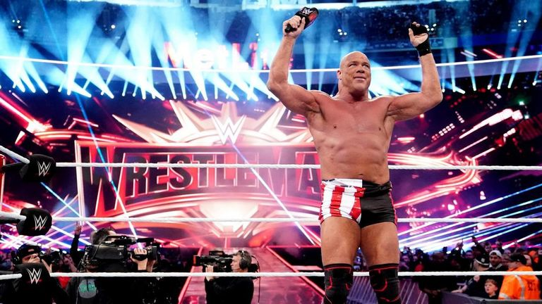Kurt Angle retired at WrestleMania and has talked about potentially becoming a manager in WWE