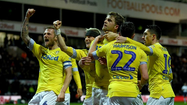 The victory at Deepdale lifts Leeds up to second in the Championship