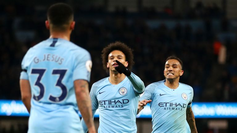 Sane's goal involvement ratio this season is his best at City