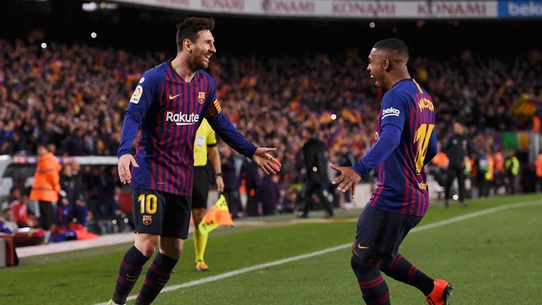 Lionel Messi rounded off Barcelona's 2-0 win over Atletico Madrid