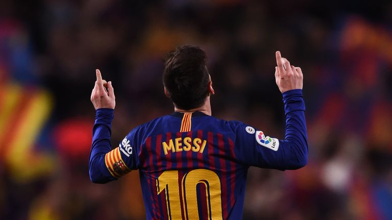 Lionel Messi is the top-scorer in the Champions League with eight goals