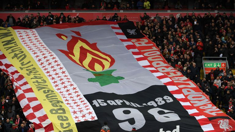 Fans paid their respects for the upcoming 30th anniversary of the Hillsborough tragedy