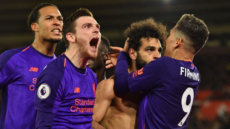 Liverpool celebrate their win over Southampton