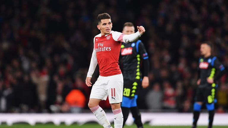 Lucas Torreira shone in Arsenal's 2-0 win over Napoli last Thursday