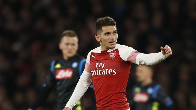 Lucas Torreira Arsenal v Napoli
