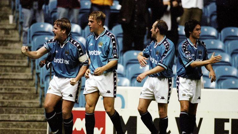 Manchester City won promotion from the third tier of English football in 1999 - but didn't have everything their own way