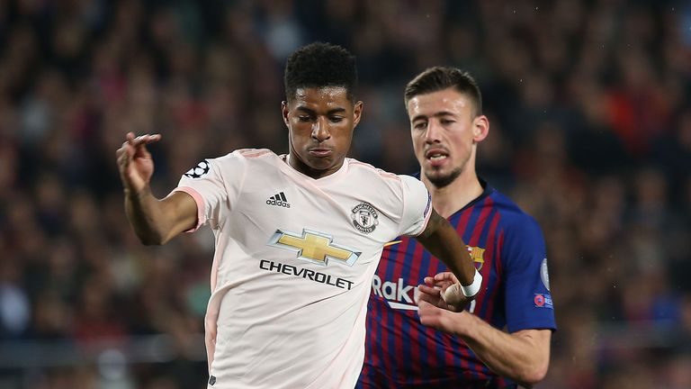 Marcus Rashford featured in United's 3-0 defeat at Barcelona on Tuesday