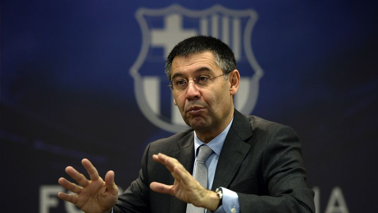 Barcelona president Josep Maria Bartomeu does not have a good relationship with his PSG counterparts, says Hunter