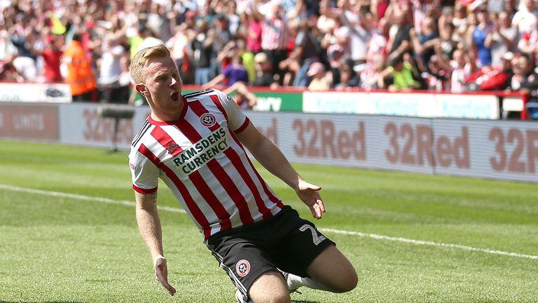 Mark Duffy celebrates scoring his goal