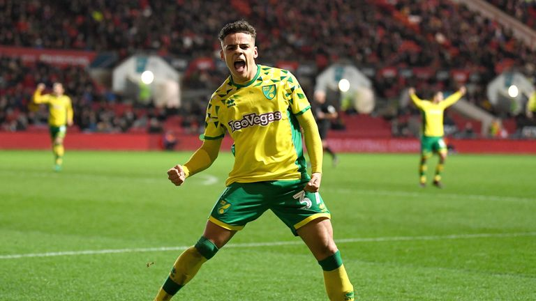 Teenager Max Aarons has broken into the Norwich first team this season