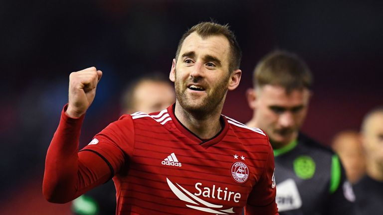 Niall McGinn scored twice for Aberdeen