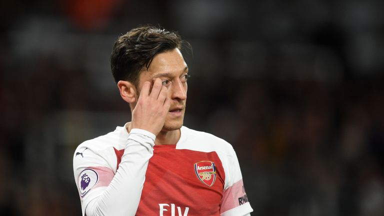 Mesut Ozil impressed in Arsenal's 2-0 win