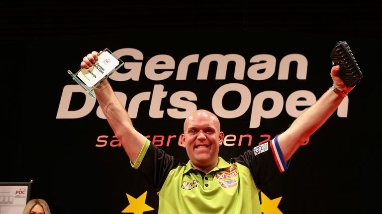 Michael van Gerwen won the German Darts Open with victory over Ian White in the final