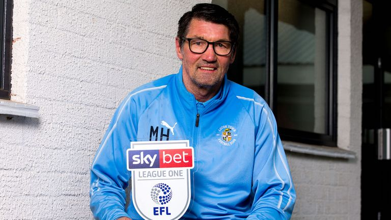Luton boss Mick Harford is the Sky Bet League One Manager of the Month for March