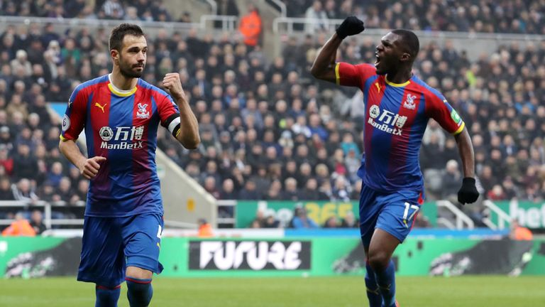 Luka Milivojevic celebrates his penalty winner against Newcastle