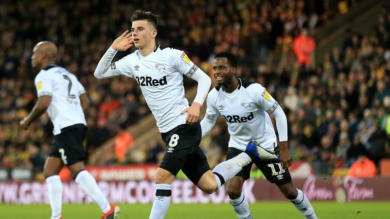 Mason Mount blossomed under Lampard at Derby