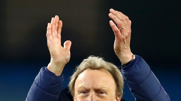"""Neil Warnock says Cardiff are faced with a """"mammoth task"""" as they attempt to avoid Premier League relegation"""