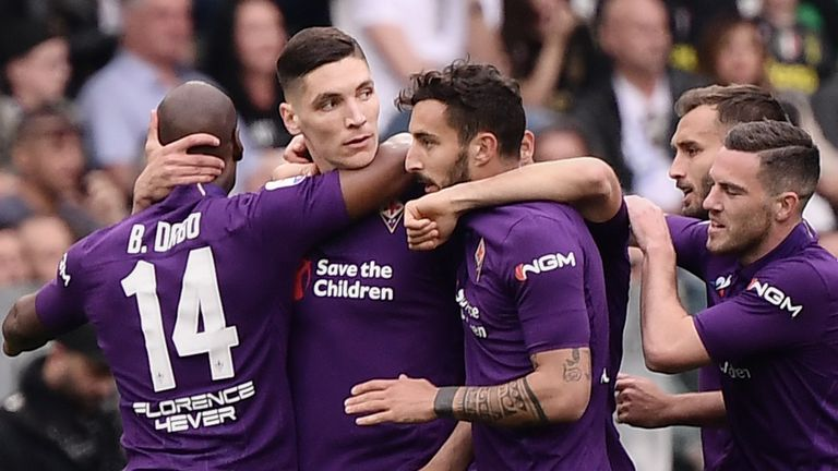 Nikola Milenkovic scored the opener for Fiorentina