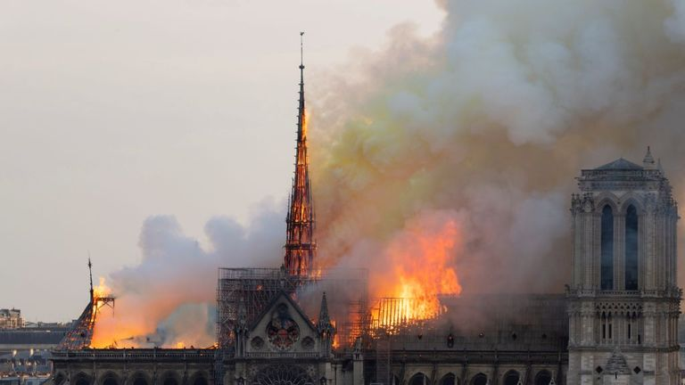PSG have vowed to support firefighters who worked to save Notre Dame