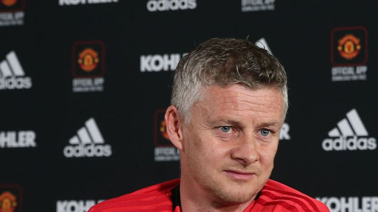 Solskjaer insisted he remained the right man for the job at his pre-match press conference