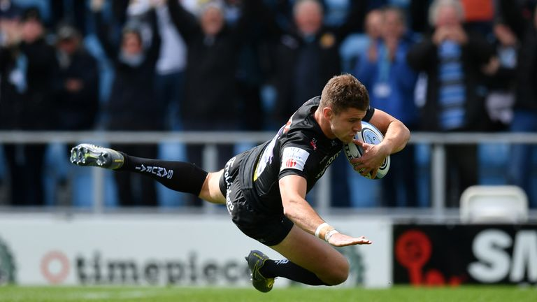 Ollie Devoto opened the scoring for Exeter Chiefs who made hard work of their victory over Harlequins